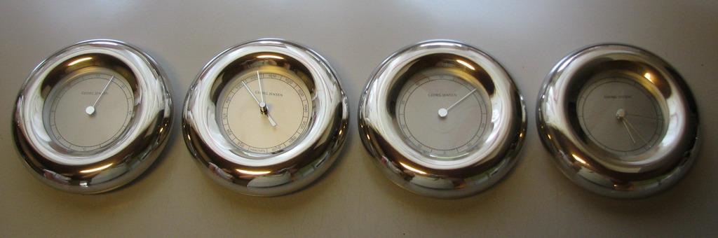 vis emne s georg jensen barometer hygrometer. Black Bedroom Furniture Sets. Home Design Ideas
